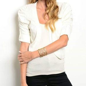Sweaters - White Cardigan